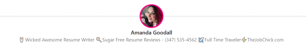 Amanda Goodall, Resume Writer