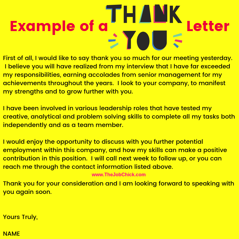 Sending A Thank You Letter After An Interview from thejobchick.com
